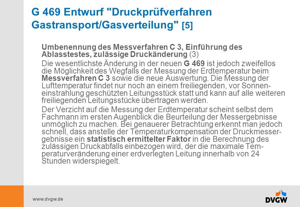 G 469 Entwurf Druckprüfverfahren Gastransport/Gasverteilung [5]